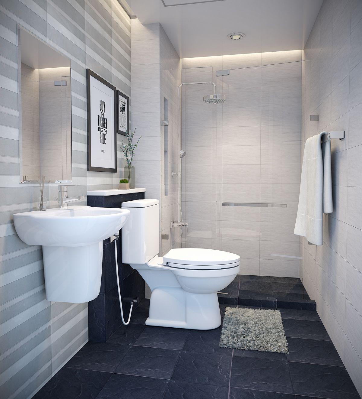 mẫu phòng tắm nhỏ đẹp, sang trọng hiện đại