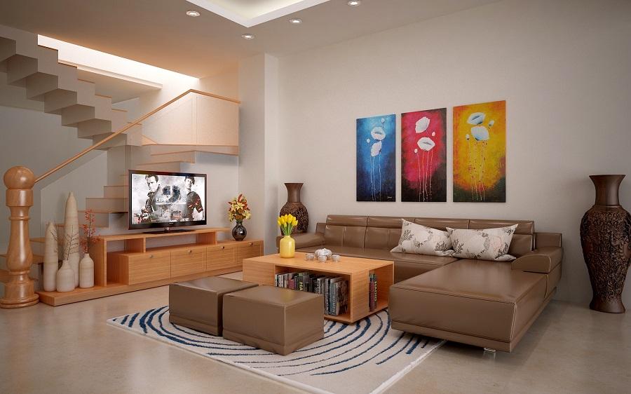 nội thất phòng khách đẹp hợp phong thủy