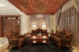 phòng khách gỗ tự nhiên đẹp