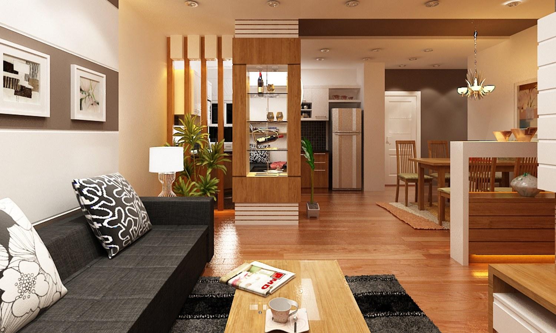 nội thất vách ngăn phòng khách