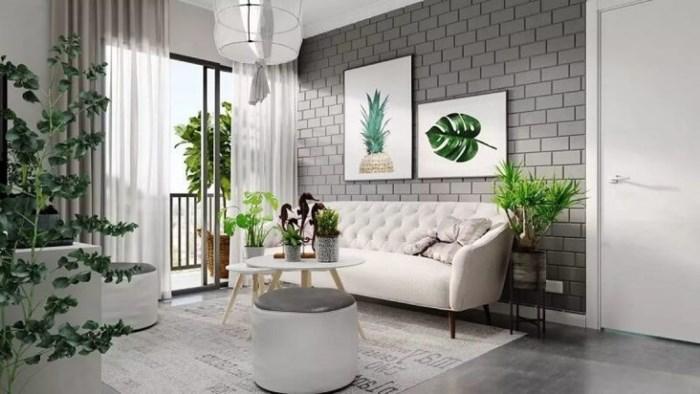 phong cách thiết kế nội thất kết hợp với không gian xanh mát