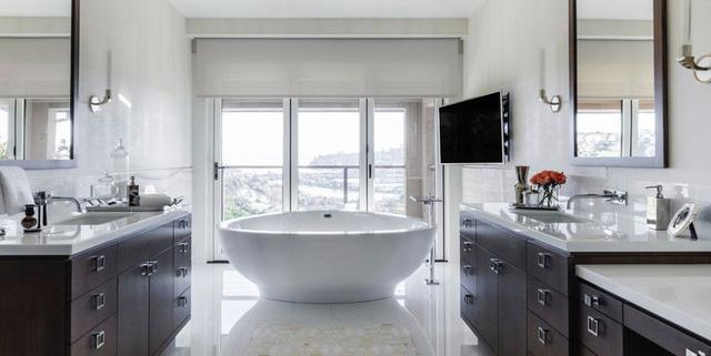 thiết kế nhà vệ sinh đẹp, hiện đại, sang trọng