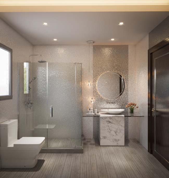 phòng tắm đơn giản, hiện đại