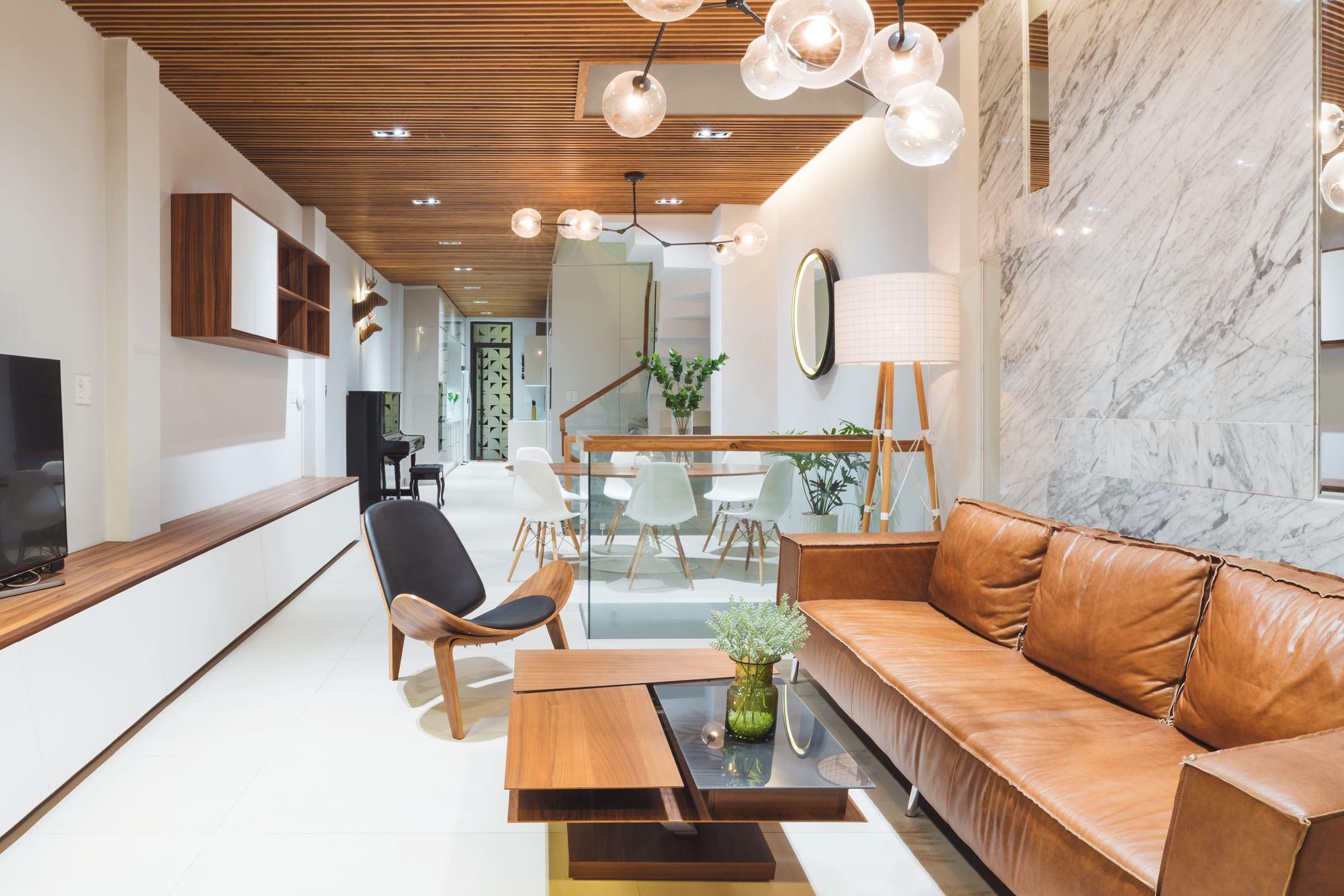 mẫu phòng khách tối giản đẹp hiện đại