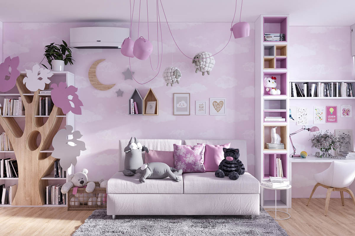 mẫu nội thất phòng ngủ cho trẻ em tuyệt đẹp