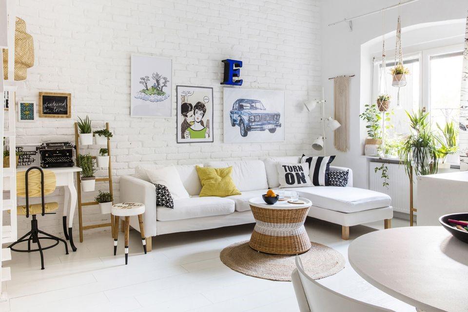 phòng khách hiện đại đầy ánh sáng và gió tự nhiên