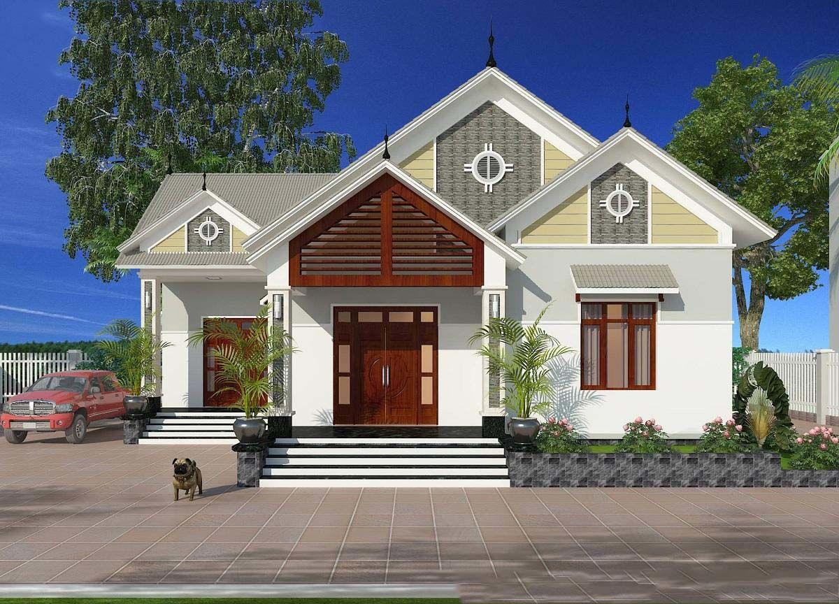 Thiết kế nhà mái thái cấp 4 lấy sáng tự nhiên
